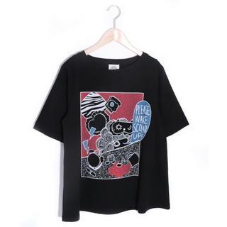 スカラー(ScoLar)のスカラー ScoLar モーニング柄Tシャツ 新品 未使用品(Tシャツ(半袖/袖なし))