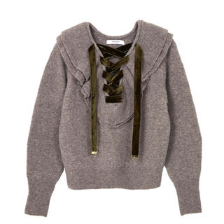 snidel - 【Her lip to】Lace Up Wool-blend Pullover