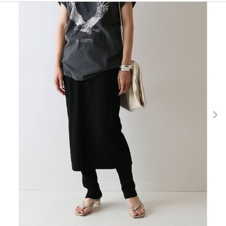 フレームワーク(FRAMeWORK)の新品タグ付き☆フレームワーク C/PEレギンス付きスカート(ロングスカート)