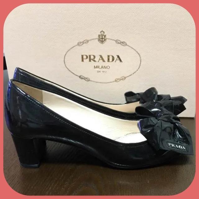 PRADA(プラダ)のプラダ PRADA オープントゥ パンプス ★ 美品 レディースの靴/シューズ(ハイヒール/パンプス)の商品写真