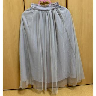 マジェスティックレゴン(MAJESTIC LEGON)のMAJESTIC LEGON チュールドット刺繍スカート(ロングスカート)