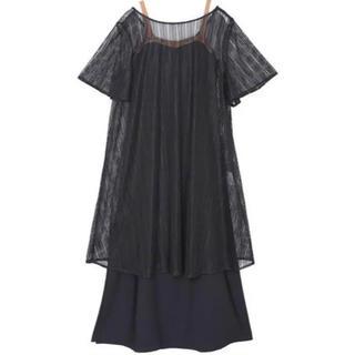 Ameri VINTAGE - Ameri◆BELTED MESH DRESS