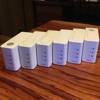 アイオーデータ(IODATA)のPLCアダプター I・O DATA製 親機1台子機5台=合計6台のセット(中古)(PC周辺機器)