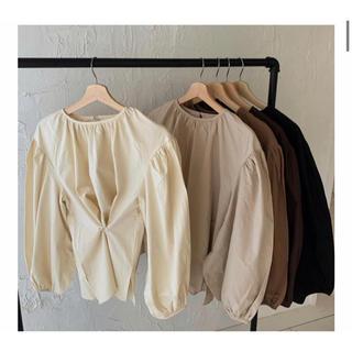 Kastane - amiur original 2way volume blouse  beige