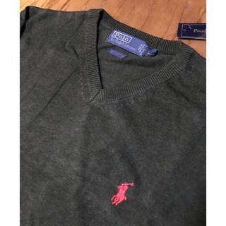 ポロラルフローレン(POLO RALPH LAUREN)のラルフローレン 新品未使用 Lサイズ コットン セーター ニット Vネック(ニット/セーター)