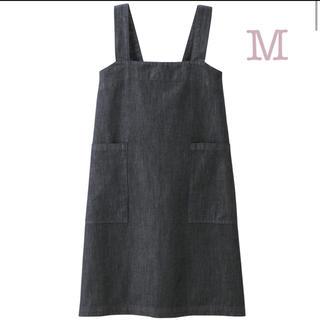 ムジルシリョウヒン(MUJI (無印良品))の無印良品    綿デニム 肩掛けエプロン  M   身丈約79cm・巾着付(日用品/生活雑貨)