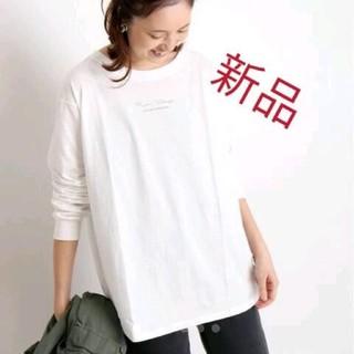 イエナスローブ(IENA SLOBE)のスローブイエナ mon village ロゴTシャツ カットソー Tシャツ(Tシャツ(長袖/七分))