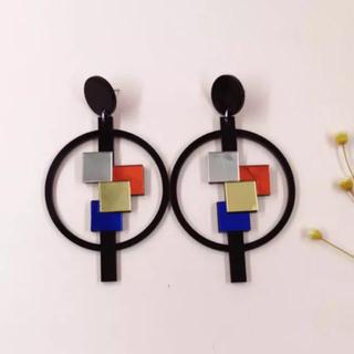 スリーワンフィリップリム(3.1 Phillip Lim)のgeometric mosaic ピアス【再入荷】(ピアス)