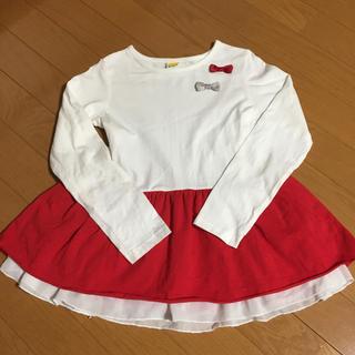 ムージョンジョン(mou jon jon)のムージョンジョン  リボン付きチュニック 130cm(Tシャツ/カットソー)