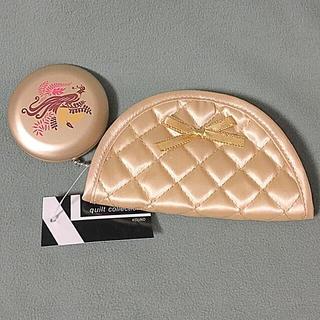 ザボディショップ(THE BODY SHOP)のゴールド キルティング ジュエリーポーチ & コンパクトミラー セット(ミラー)