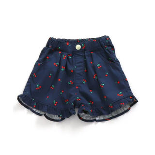 エフオーキッズ(F.O.KIDS)のアプレレクール裾フリルショートパンツさくらんぼ/チェリー柄サイズ100(パンツ/スパッツ)