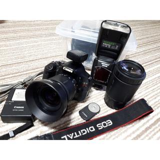 Canon - Canon キャノン EOS KISS X5 Wレンズ ストロボ付き