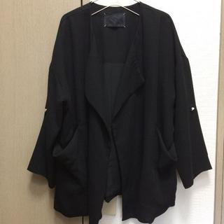 JEANASIS - 【ジーナシス】ジャケット ブラック フリーサイズ