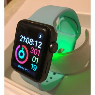 アップルウォッチ(Apple Watch)のApple Watch Serise2 スペースグレイ 42mm 美品(腕時計(デジタル))