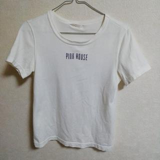 ピンクハウス(PINK HOUSE)のPINK HOUSE ★ ラメ入りロゴTシャツ(Tシャツ(半袖/袖なし))