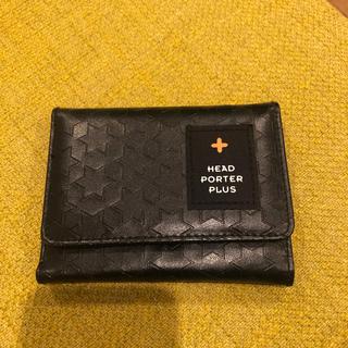 ヘッドポータープラス(HEAD PORTER +PLUS)のHEAD PORTER PLUS 三つ折り財布 ウォレット ポーター(折り財布)