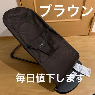BABYBJORN - ベビービョル バウンサー メッシュ ブラウン 茶色 バランスソフト 美品