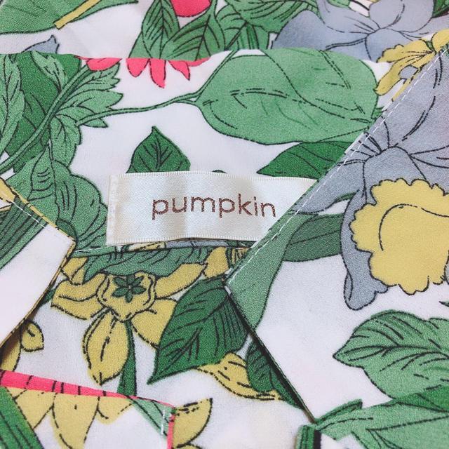pumpkin ボタニカル柄 フレアスリーブ トップス♡セシルマクビー ザラ レディースのトップス(シャツ/ブラウス(半袖/袖なし))の商品写真