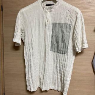 イッセイミヤケ(ISSEY MIYAKE)のイッセイミヤケ  ISSEY MIYAKE シワ加工 ヘンリーネック Tシャツ(Tシャツ/カットソー(半袖/袖なし))