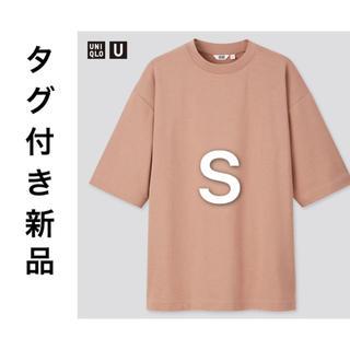 ユニクロ(UNIQLO)のエアリズムコットンオーバーサイズTシャツ(5分袖) (Tシャツ/カットソー(半袖/袖なし))