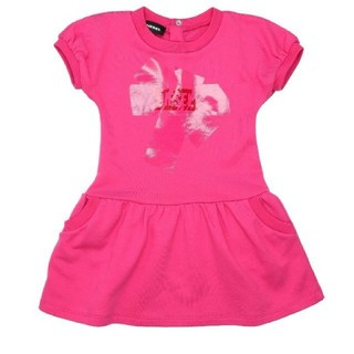 ディーゼル(DIESEL)のDIESEL ベビー ワンピース 女の子 ビビッドピンク スカート 80 保育園(ワンピース)