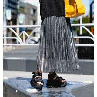ジーナシス(JEANASIS)のシアーシャイニープリーツスカート 2020ss(ロングスカート)