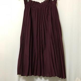 ジーナシス(JEANASIS)のジーナシス プリーツスカート 濃いめプラム色 サイズF(ロングスカート)