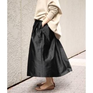 イエナ(IENA)のIENA【イエナ】☆AIDAタフタギャザースカート 新品ブラック(その他)