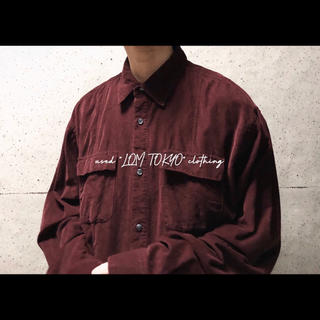 XL ダークトーン ワインレッド オーバーサイズ コーデュロイシャツ ジャケット(シャツ)