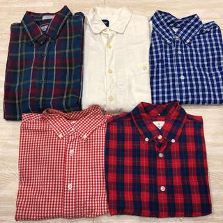 ギャップ(GAP)の5枚セット! GAP ギャップ チェックシャツ 長袖 メンズ レディース(シャツ)