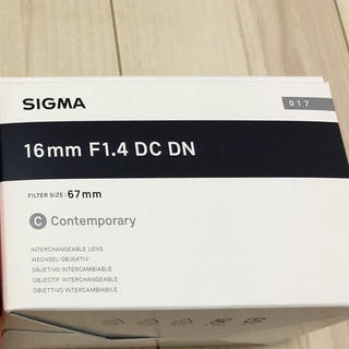 SIGMA - SIGMA 16mm F1.4 DC DN  Eマウント APS -C専用