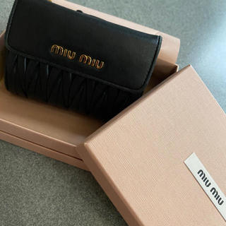 miumiu - miumiu マテラッセ レザー財布 黒