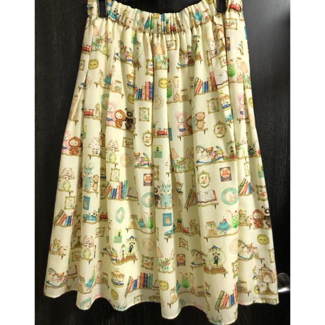 franche lippee(フランシュリッペ)のホビールーム オリプリスカート  フランシュリッペ 3L レディースのスカート(ひざ丈スカート)の商品写真