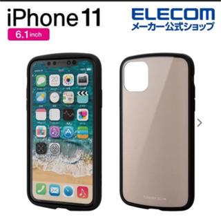 ELECOM - iphone11 ケース ベージュ