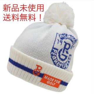 パーリーゲイツ(PEARLY GATES)のニットワッチ パーリーゲイツ  ニット帽 新品未使用完売品ホワイト(ウエア)
