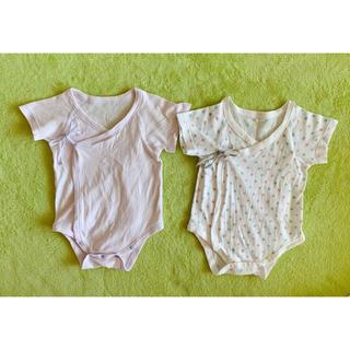 ベルメゾン(ベルメゾン)の新生児 肌着 70cm 2セット コンビ(肌着/下着)