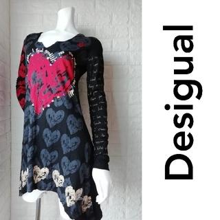 デシグアル(DESIGUAL)の(M106)デシグアル レディース ロングT シャツ(Tシャツ/カットソー(七分/長袖))