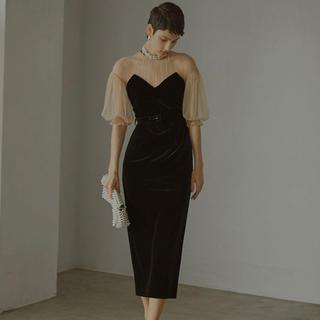 Ameri VINTAGE - ameri vintage チュールスリーブタイトドレス Sサイズ