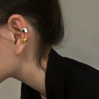 アッシュペーフランス(H.P.FRANCE)のイヤーカフ シルバー 軟骨イヤリング フェイクピアス 片耳用 シンプル 男女兼用(イヤーカフ)