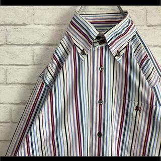 バーバリーブラックレーベル(BURBERRY BLACK LABEL)の日本製 Burberry バーバリー BDシャツ ストライプ マルチカラー(シャツ)