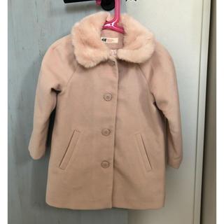 エイチアンドエム(H&M)のH&M ファー襟 ピンクコート110 未使用 エイチアンドエム(コート)