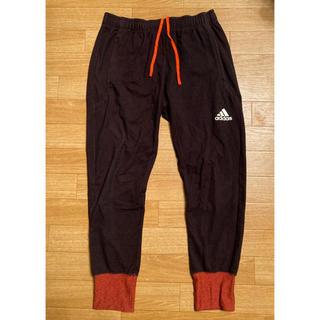 adidas - adidas/7部丈スウェットパンツ/黒×オレンジ/メンズ Lサイズ