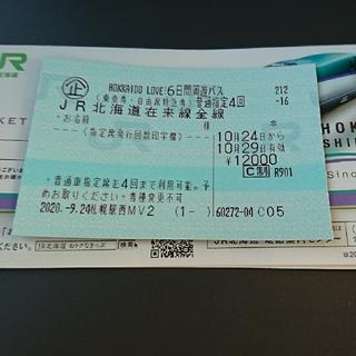 JR - JR北海道の駅で日付変更可能! HOKKAIDO LOVE6日間周遊パス