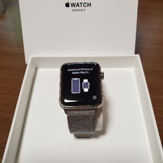 Apple Watch - Apple watch series3 42mm ステンレスミラネーゼループ