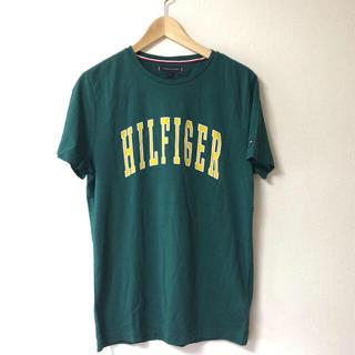 トミーヒルフィガー(TOMMY HILFIGER)の★新品・格安★トミーヒルフィガー メンズ Tシャツ 緑 サイズ S(Tシャツ/カットソー(半袖/袖なし))
