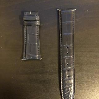 インターナショナルウォッチカンパニー(IWC)のIWC 革ベルト ネイビー 新品 22mm 18mm アリゲーターブルーマット(腕時計(アナログ))