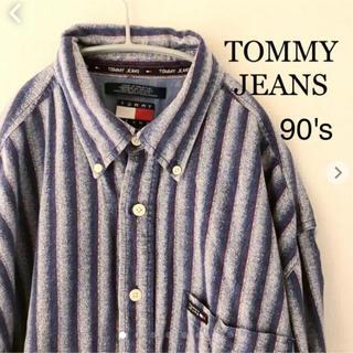 トミーヒルフィガー(TOMMY HILFIGER)のTOMMY JEANS 長袖シャツ M 旧タグ 90's トミーヒルフィガー  (シャツ)