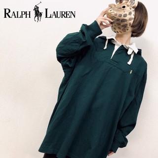 ラルフローレン(Ralph Lauren)のレア❗フード付【ラルフローレン ラガーシャツ】刺繍ロゴ 3XL(ポロシャツ)