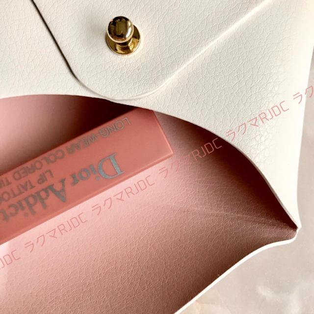 Christian Dior(クリスチャンディオール)の【新品箱有】ディオール レザー調 カードケース カードホルダー ポーチ 非売品 レディースのファッション小物(ポーチ)の商品写真