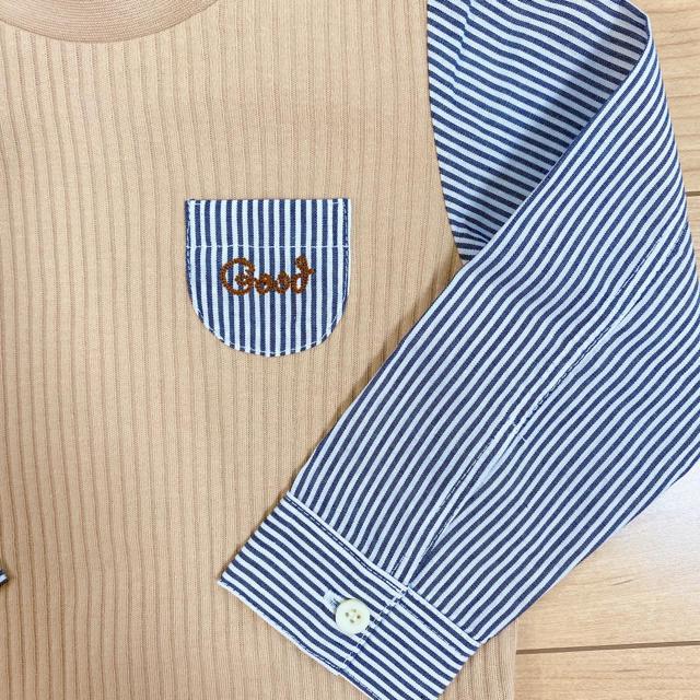 F.O.KIDS(エフオーキッズ)のアプレレクール 袖切り替えリブTシャツ 90 キッズ/ベビー/マタニティのキッズ服男の子用(90cm~)(Tシャツ/カットソー)の商品写真